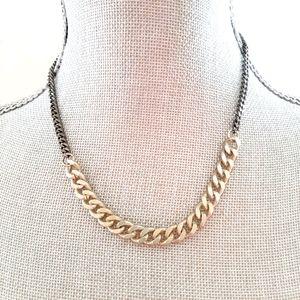 Men's Dual Tone Chain Necklace